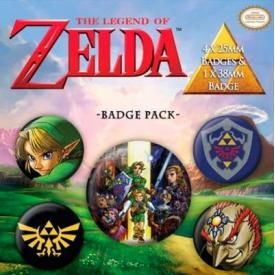 Pack de 5 Badges NINTENDO - The Legend Of Zelda