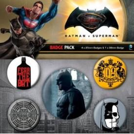Pack de 5 Badges BATMAN V SUPERMAN - Batman