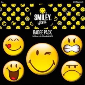 Pack de 5 Badges SMILEY - Emoticons