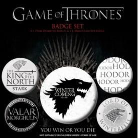 Pack de 5 Badges GAME OF THRONES - Stark