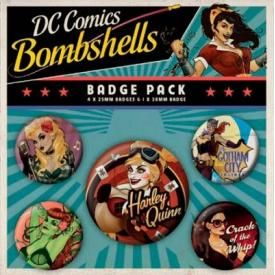 Pack de 5 Badges DC COMICS - Bombshells