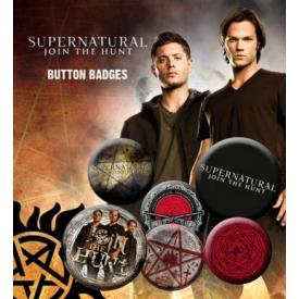Pack de 6 Badges SUPERNATURAL - Hunt