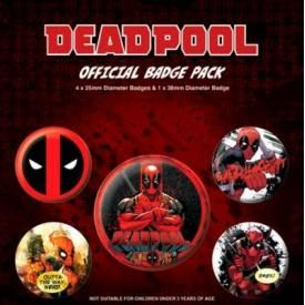 Pack de 5 Badges DEADPOOL - Comics