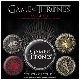 Pack de 5 Badges GAME OF THRONES - Houses