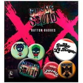 Pack de 6 Badges SUICIDE SQUAD - Joker & Quinn