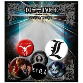Pack de 6 Badges DEATH NOTE - Characters
