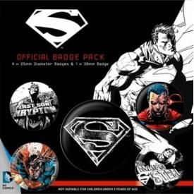 Pack de 5 Badges SUPERMAN - Dark