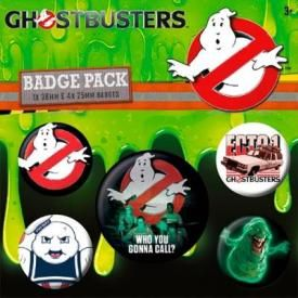 Pack de 5 Badges GHOSTBUSTERS - Who You Gonna Call