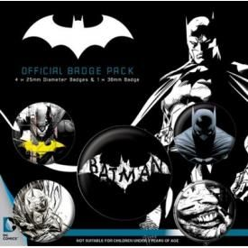 Pack de 5 Badges BATMAN - Dark Knight