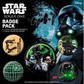 Pack de 5 Badges STAR WARS - Rogue One Empire