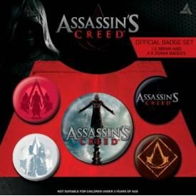Pack de 5 Badges ASSASSIN'S CREED - Movie
