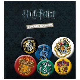 Pack de 6 Badges HARRY POTTER - Maisons