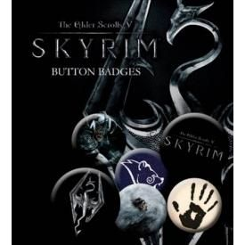 Pack de 6 Badges THE ELDER SCROLLS - Skyrim
