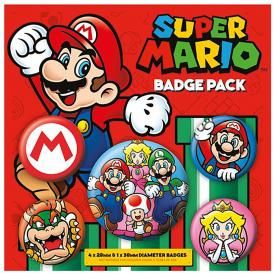 Pack de 5 Badges NINTENDO - Super Mario