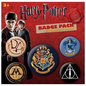Pack de 5 Badges HARRY POTTER - Hogwarts