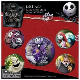 Pack de 5 Badges MISTER JACK - Personnages