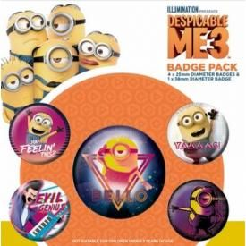 Pack de 5 Badges MINIONS - Despicable Me 3