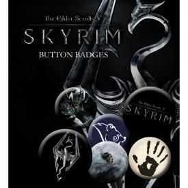Pack de 6 Badges THE ELDER SCROLLS - Skyrim Dragon