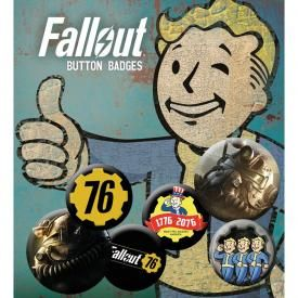Pack de 6 Badges FALLOUT 76 - T-51b