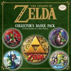 Pack de 5 Badges NINTENDO - Zelda Classics