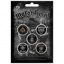Pack de 5 Badges MOTÖRHEAD - Clock