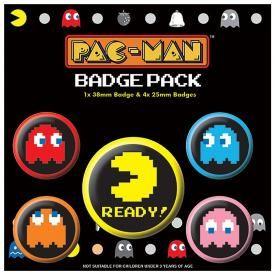 Pack de 5 Badges PAC-MAN - Pixels