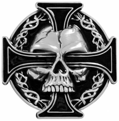 Boucle de Ceinture TÊTE DE MORT - Maltesse Cross - Rock A Gogo a35eae7bd9e
