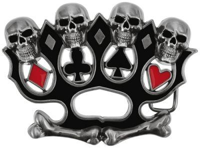 Boucle de Ceinture TÊTE DE MORT - Poker Fist - Rock A Gogo 4ce182e4906