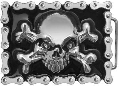 Boucle de Ceinture TÊTE DE MORT - Lightning Skull - Rock A Gogo 2d4eef244fe