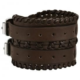 Bracelet de Force CUIR - Brown Plaits