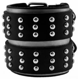 Bracelet de Force CUIR - Mini Rivets