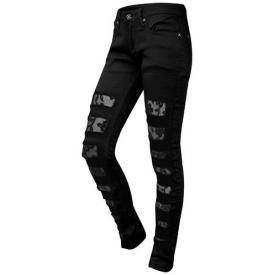 Pantalon Femme CRIMINAL DAMAGE - Rose Lace Skinny Black