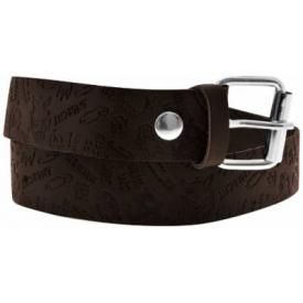 Ceinture CUIR - Brown Punk Embossed