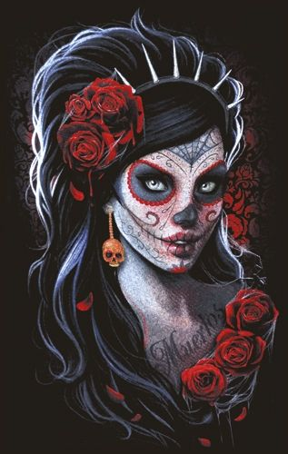 skinny nana dark wear day of the dead t shirts rock a gogo. Black Bedroom Furniture Sets. Home Design Ideas