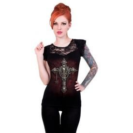Tee Shirt Femme Spiral DARK WEAR - Death Bones