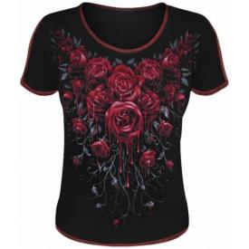 Tee Shirt Femme Spiral DARK WEAR - Blood Rose