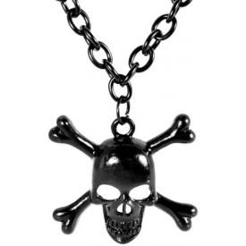 Collier MÉTAL - Black Skull