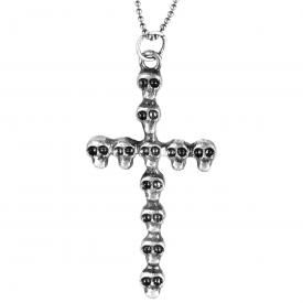 Collier MÉTAL - Silent Skulls On Cross