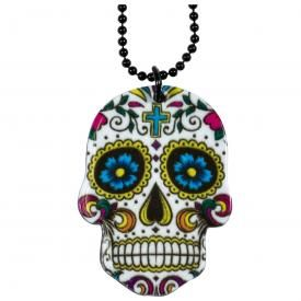 Collier MÉTAL - White Mexican Skull