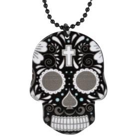 Collier MÉTAL - Black Mexican Skull