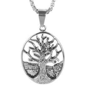 Collier ACIER - Celtic Tree