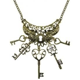 Collier MÉTAL - Heart Shaped Keys