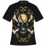 T-Shirt DARK WEAR - Pierced Skull Tribal