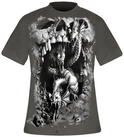 Image de T-Shirt Mec Spiral DARK WEAR - Hydra Skull