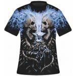 T-Shirt Mec All Over Spiral DARK WEAR - Flaming Spine