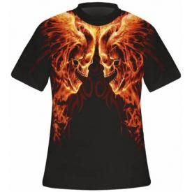 T-Shirt Mec All Over Spiral DARK WEAR - Burn In Hell