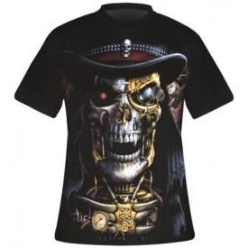 T-Shirt Mec Spiral DARK WEAR - Steampunk Reaper