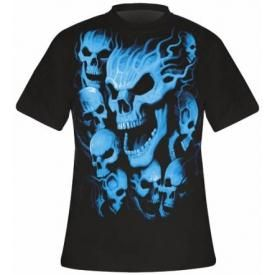 T-Shirt Mec DARK WEAR - Vampire Skulls