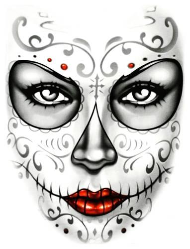 T shirt homme dark wear heart skull rock a gogo - Maquillage tete de mort mexicaine facile ...