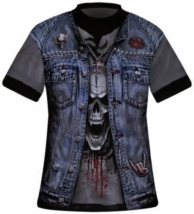 Image de T-Shirt Mec All Over Spiral DARK WEAR - Thrash Metal